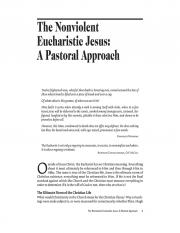 The Nonviolent Eucharistic Jesus: A Pastoral Approach