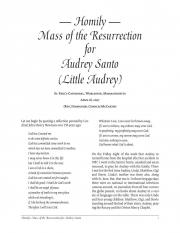 Homily: Mass of the Resurrection for Audrey Santo