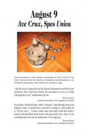 August 9: Ave Crux, Spes Unica